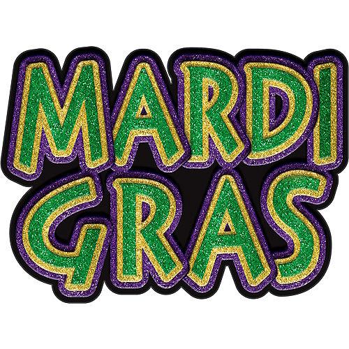 Large Glitter Mardi Gras Sign Image #1