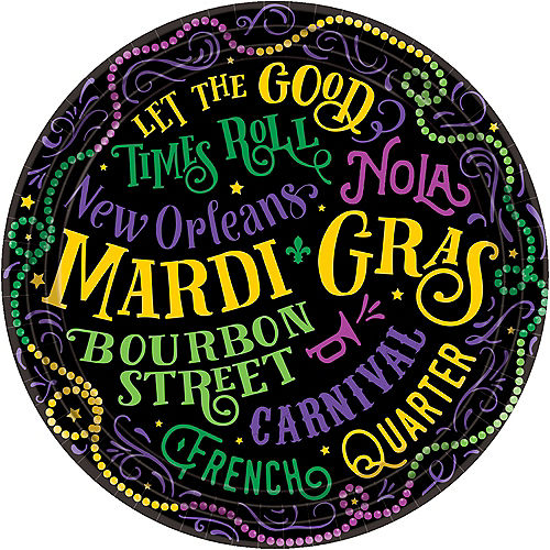 Good Times Mardi Gras Lunch Plates 60ct Image #1