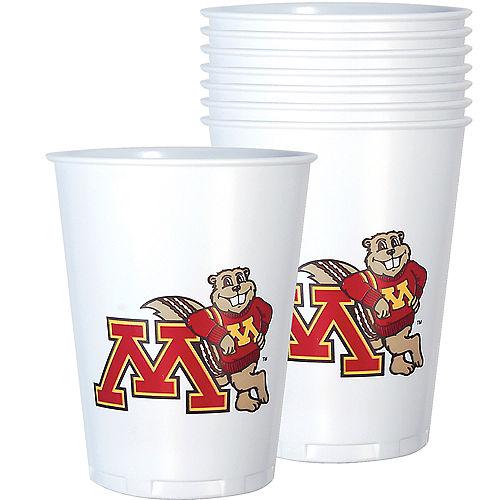 Minnesota Golden Gophers Plastic Cups 8ct Image #1
