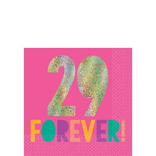 Young & Fab 29 Forever Beverage Napkins 16ct Image #1