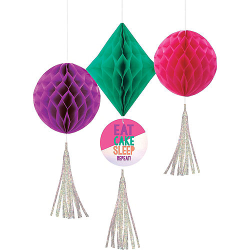 Young & Fab Honeycomb Decorations 3ct Image #1
