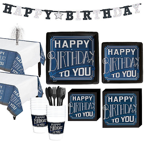 Happy Birthday Classic Party Kit for 16 Guests Image #1