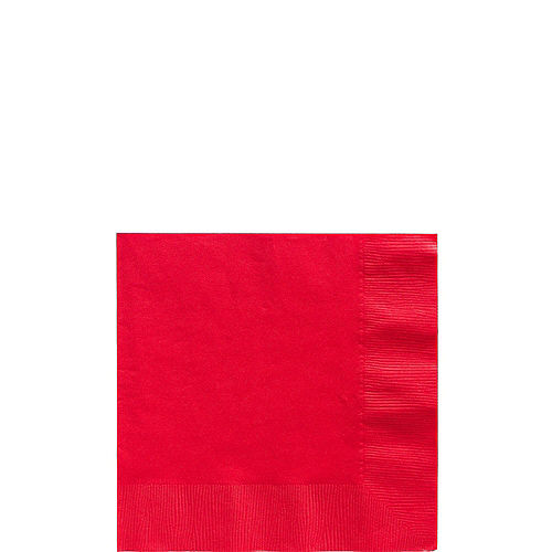 Red Plastic Tableware Kit for 100 Guests Image #4