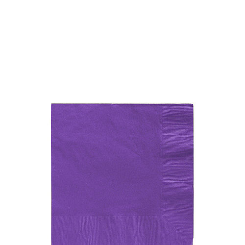 Purple Plastic Tableware Kit for 100 Guests Image #4
