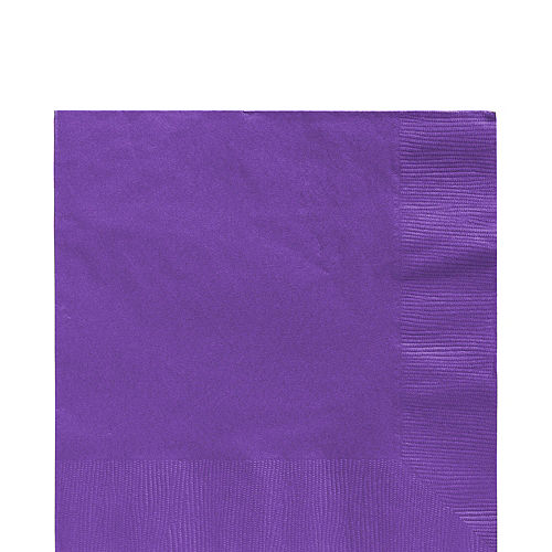 Purple Plastic Tableware Kit for 100 Guests Image #5