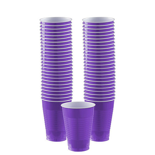 Purple Plastic Tableware Kit for 100 Guests Image #6