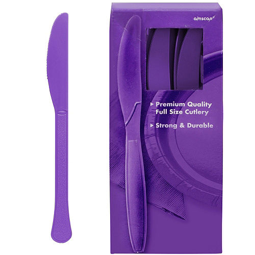 Purple Plastic Tableware Kit for 100 Guests Image #9