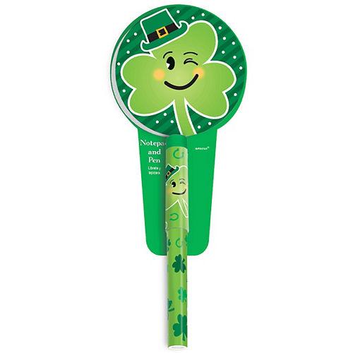 Winking Shamrock St. Patrick's Day Pen with Notepad Image #1