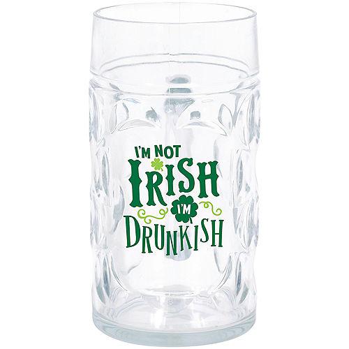 I'm Not Irish I'm Drunkish Beer Mug Image #1