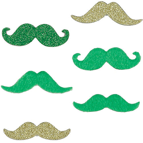 Green & Gold St. Patrick's Day Moustaches 6ct Image #1