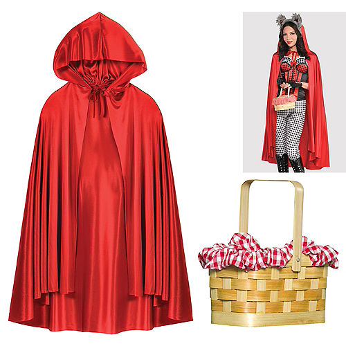 Womens Little Red Riding Hood Accessory Kit Image #1