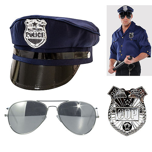 Mens Police Officer Accessory Kit Image #1