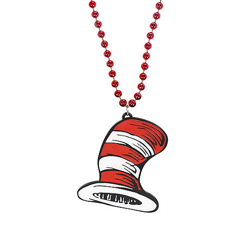 Cat in the Hat Pendant Bead Necklace – Dr. Seuss Image #1