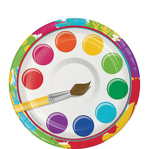 Art Party Dessert Plates 8ct Image #1