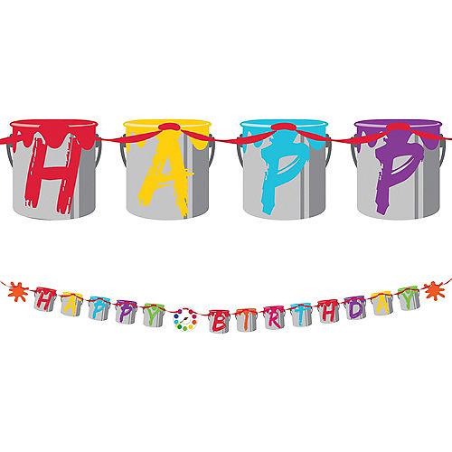 Art Party Happy Birthday Banner Image #1