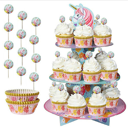 Magical Unicorn Cupcake Pick Kit for 24 Image #1