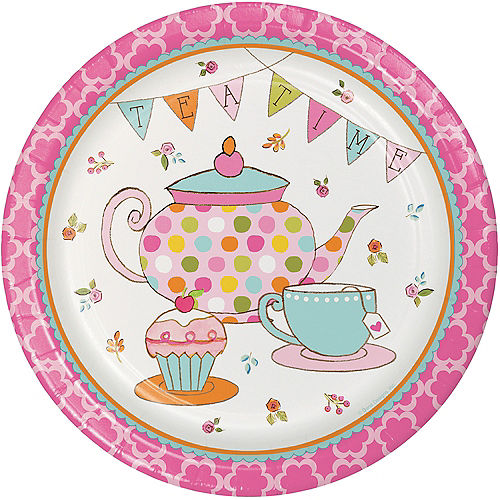 Tea Time Lunch Plates 8ct Image #1
