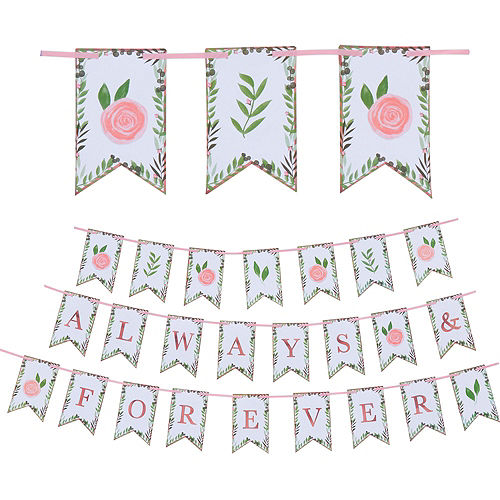 Metallic Floral Greenery Wedding Party Kit for 32 Guests Image #9