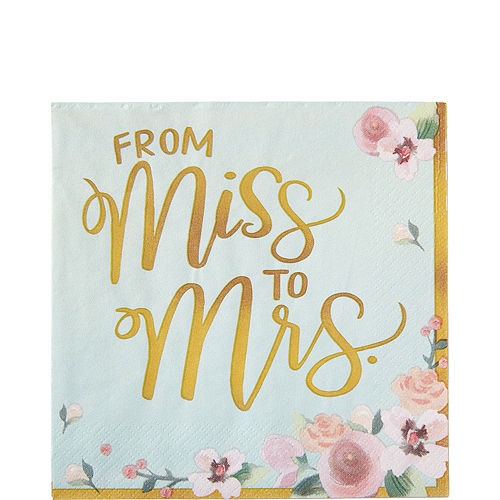 Mint to Be Floral Bridal Shower Party Kit for 32 Guests Image #5