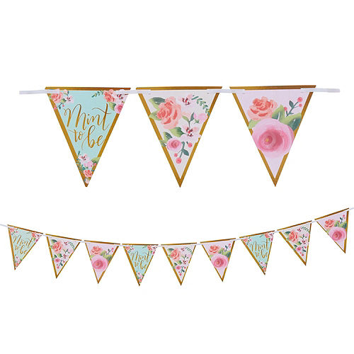 Mint to Be Floral Bridal Shower Party Kit for 32 Guests Image #9