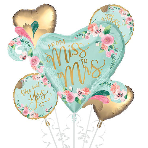 Mint to Be Floral Bridal Shower Balloon Kit Image #3