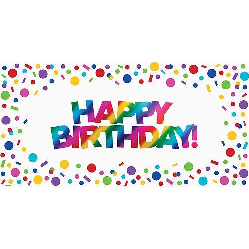 Metallic Rainbow Happy Birthday Banner Image #1