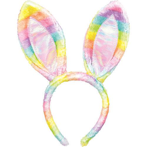 Rainbow Bunny Ears Headband Image #1