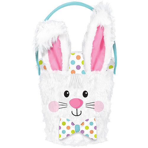 Plush Polka Dot Bunny Easter Basket Image #1
