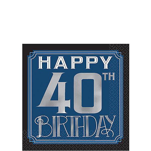 Vintage Happy Birthday 40th Birthday Beverage Napkins 16ct Image #1