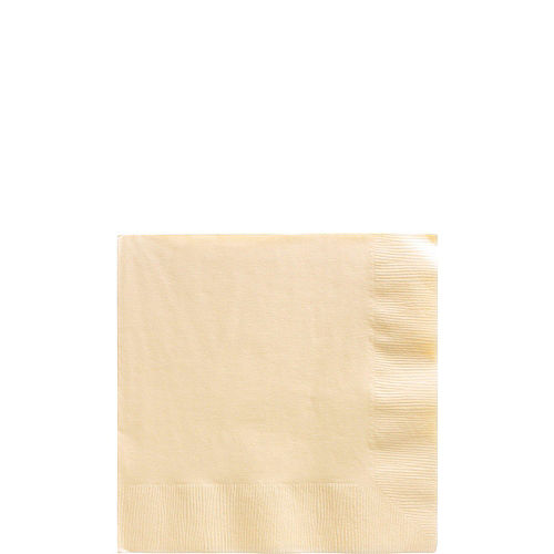 Vanilla Plastic Tableware Kit for 100 Guests Image #4