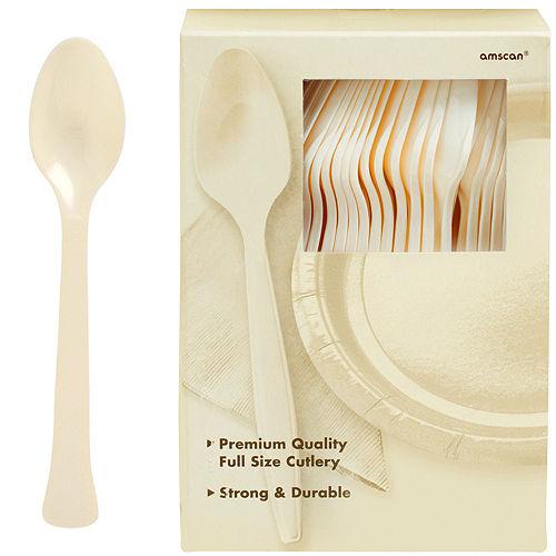 Vanilla Plastic Tableware Kit for 100 Guests Image #9