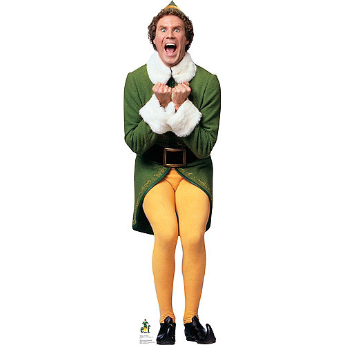 Excited Buddy the Elf Life-Size Cardboard Cutout Image #1