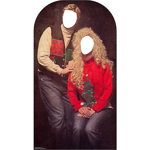 Ugly Christmas Sweater Life-Size Photo Cardboard Cutout Image #1