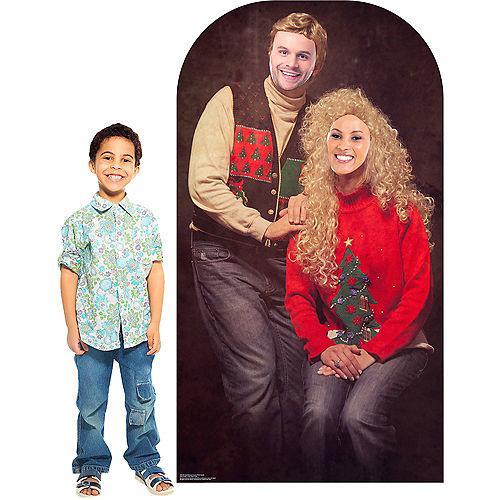 Ugly Christmas Sweater Life-Size Photo Cardboard Cutout Image #3
