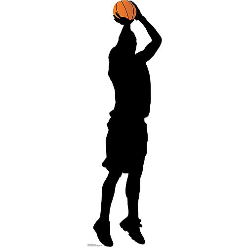 Basketball Player Silhouette Life-Size Cardboard Cutout Image #1