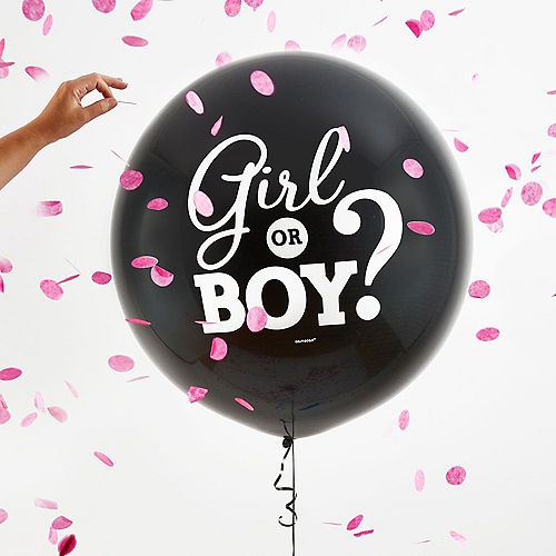 Girl Gender Reveal Balloon with Confetti Image #2