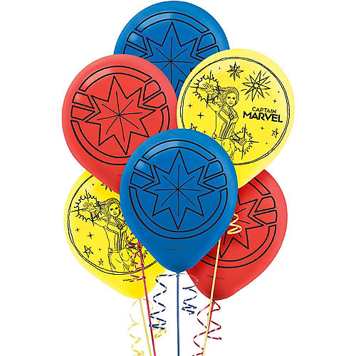 Captain Marvel Balloons 6ct Image #1
