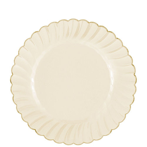 Cream & Gold Scalloped Premium Tableware Kit for 40 Guests Image #2