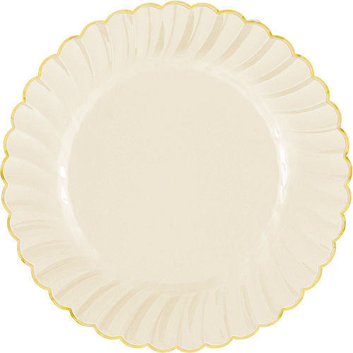 Cream & Gold Scalloped Premium Tableware Kit for 40 Guests Image #3