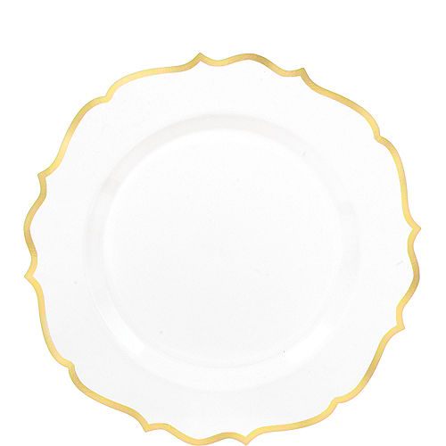 White & Gold Ornate Premium Tableware Kit for 40 Guests Image #2