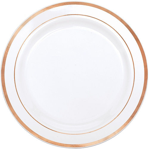 White Rose Gold-Trimmed Premium Tableware Kit for 40 Guests Image #3