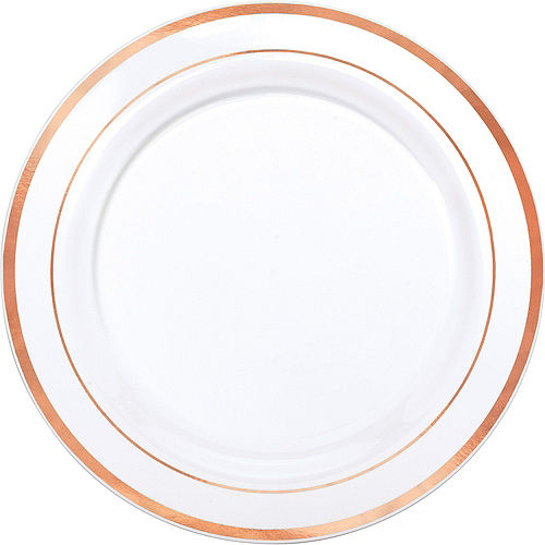 White Rose Gold-Trimmed Premium Tableware Kit for 60 Guests Image #3