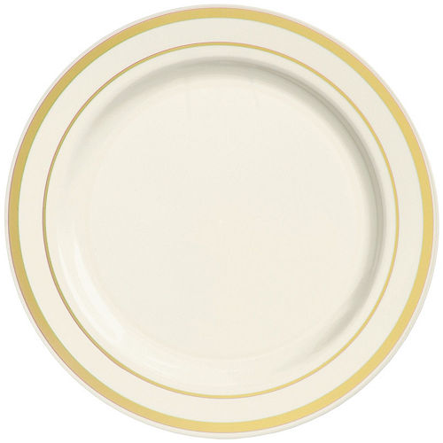 Cream Gold-Trimmed Premium Tableware Kit for 60 Guests Image #3