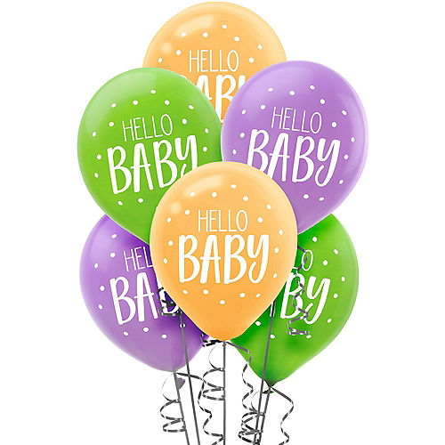 Fisher-Price Hello Baby Balloons 15ct Image #1