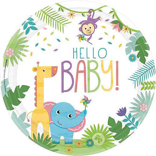 Fisher-Price Hello Baby Dinner Plates 8ct Image #1
