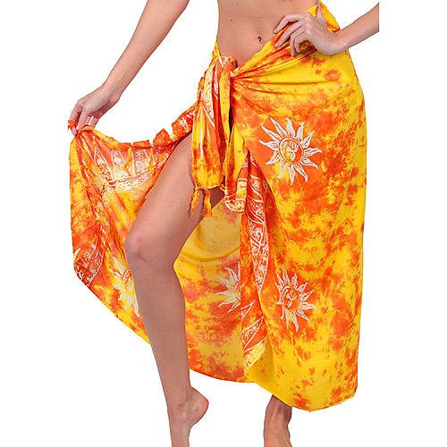 Adult Yellow Sarong Image #1