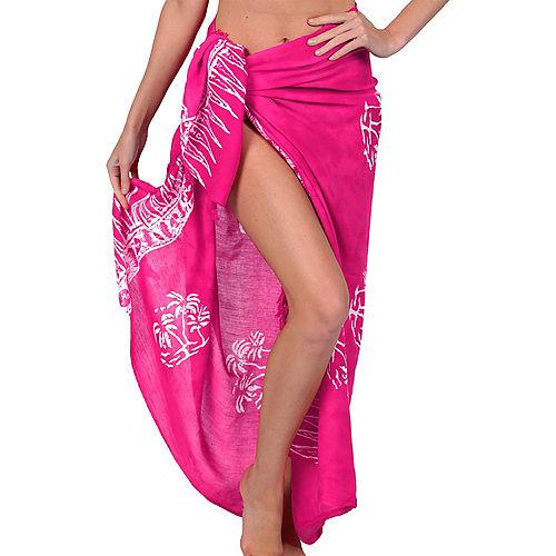 Adult Pink Sarong Image #1