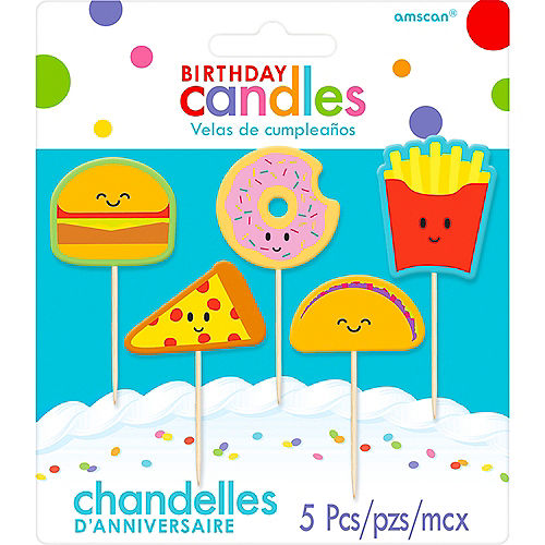 Food Birthday Toothpick Candles 5ct Image #1