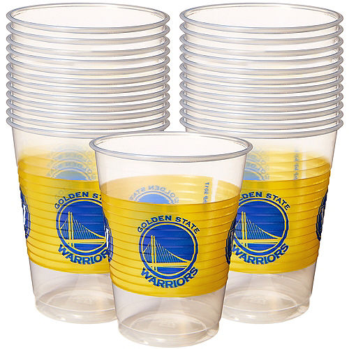 Golden State Warriors Plastic Cups 25ct Image #1