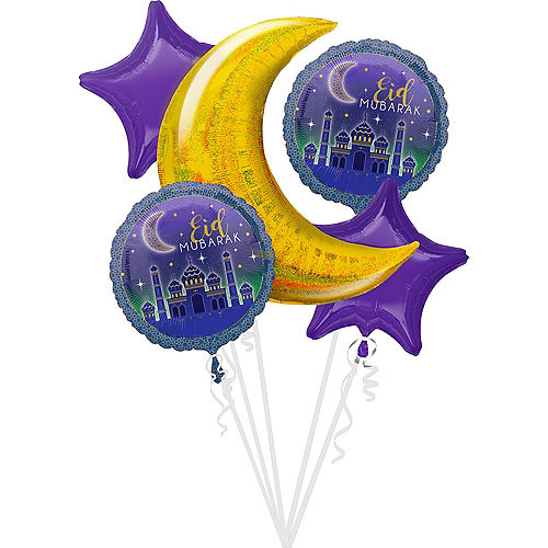 Eid Balloon Bouquet 5pc Image #1
